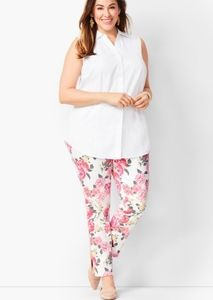 Talbots flawless SLIM ANKLE JEANS - FLORAL plus
